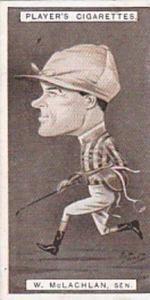 Player Vintage Cigarette Card Racing Caricatures 1925 No 27 W McLachlan Senior
