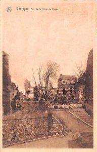 Rue de la Porte de Treves Bastogne Belgium 1948 Missing Stamp