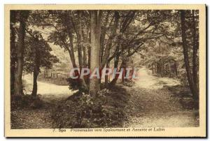 Postcard Old Spa Walks Towards Spaloumont And Annette and Lubin
