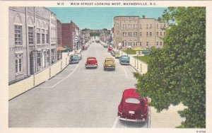 North Carolina Waynesville Main Street Looking West