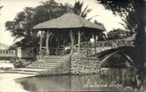 hawaii, HALEIWA, Haleiwa Hotel, Bridge (1930s) RPPC