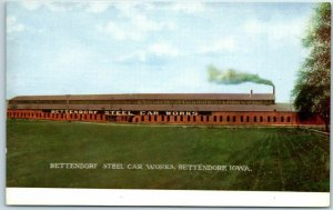 Bettendorf, Iowa Postcard STEEL CAR WORKS Rock Islands Post Card Co. c1910s