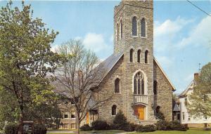 Somerville New Jersey~First Methodist Church on West High Street~1950s Postcard