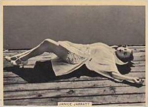 B A T Vintage Cigarette Card Grace & Beauty No 1 Janice Jarratt  1938