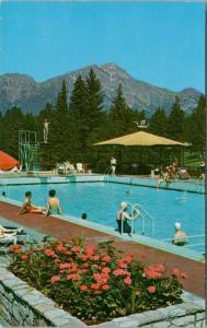 Swimming Pool Jasper Park Lodge Alberta AB Alta. JPL Unused Vintage Postcard D38