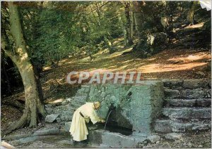 Postcard Modern Sanctuaries France La Sainte Baume (Var) The Fountain of Nans...