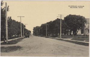 MELROSE , Minnesota, 1900-10s ; Riverside Avenue