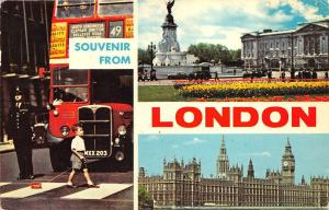 B48092 London autobus Policeman multivews   uk