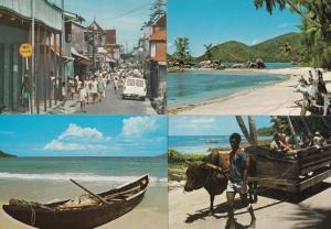 Seychelles Transport Canoe Boat Transportation 4x Postcard s
