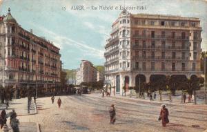 Algeria~Alger~Michelet Street~Excelsior Hotel~Brick Road~1908 Postcard