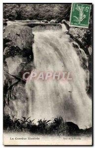 Old Postcard Correze Illustree Leap of Virolle