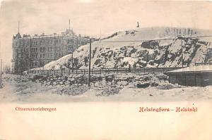 Helsingfors Finland, Suomi Observatoriebergen Helsingfors Observatoriebergen