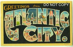 Large Letter, Atlantic City NJ