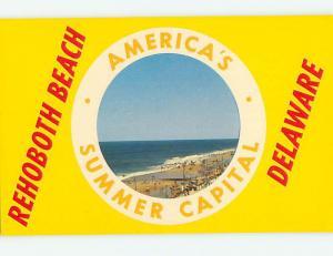 Unused Pre-1980 SCENE AT BEACH Rehoboth Beach Delaware DE M6535@