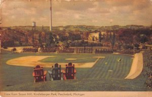 Parchment Michigan Kindleberger Park Baseball Sports Vintage Postcard AA10284