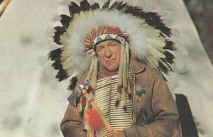 WALTHAM , Quebec , Canada , 50-60s ; Native Canadian Indian Chief