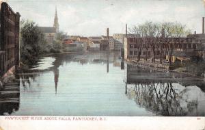Pawtucket Rhode Island~Pawtucket River Above Falls~Buildings Reflected~c1905 Pc