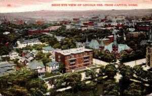 Nebraska Lincoln Birds Eye View From Capitol Building 1911