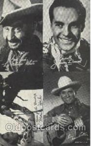 Lee Molassis White, Monte Hale, Johnny Downs, Gene Autry, Western Arcard Card...