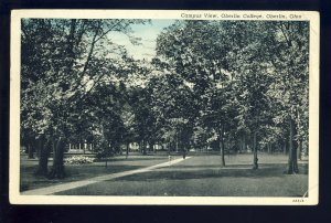 Oberlin, Ohio/OH Postcard, Campus View, Oberlin College, 1944!