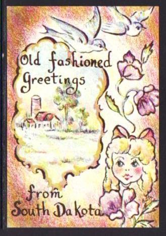 Old fashioned greetings dakota kids post card 5523 hippostcard old fashioned greetings dakota kids post card 5523 m4hsunfo