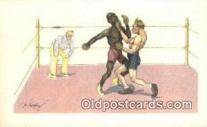Boxing Postcard Post Card Old Vintage Antique