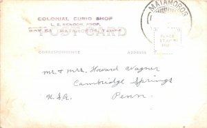 F55/ Matamoros Mexico Foreign RPPC Postcard c1930s Bar Interior Men Curio