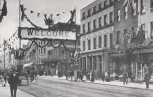 Cheltenham High Street in 1897 Prince Edward Royal Visit Gloucester Postcard
