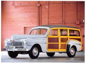 Giant Size Postcard Mercury Station Wagon 1946, Motor Car, Automobile OS74