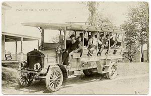 Northwood Epson NH Stage Pierce Arrow Bus 1914 RPPC Real Photo Postcard