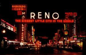 US    PC734  RENO ARCH AT NIGHT, RENO, NV