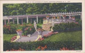 New York Saratoga Springs View In The Gardens At Yaddo 1934