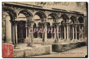 Old Postcard Aix en Provence Cloister of the Cathedral