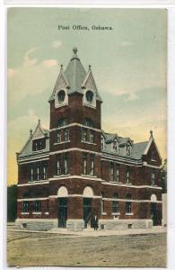 Post Office Oshawa Ontario Canada 1908 postcard