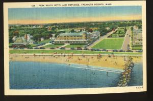 Falmouth Heights, Massachusetts/MA/Mass Postcard, Park Beach Hotel, Cape Cod #2
