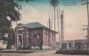 TAVISTOCK , Ontario , Canada, 1900-10s ; Carnegie Library & Pump Station