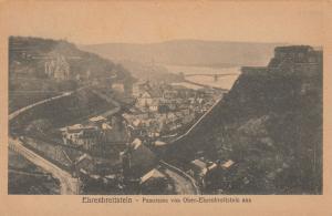 Ehrenbreitstein - Panorama von Ober-Ehrenbreitsteain aus , Germany , 1919