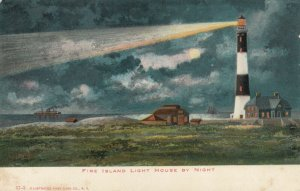 Fire Island Lighthouse, New York, 1901-07 ; at night