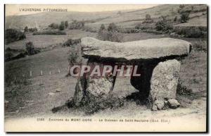 Old Postcard Menhir Dolmen Environs Mont Dore dolmen Saint Nectaire