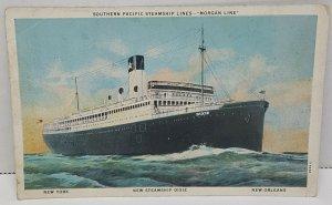 Southern Pacific Steamship Lines Morgan Dixie Vintage Postcard