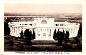 Virginia Alexandria Memorial Amphitheatre From Mast Of U S S Maine Real Photo