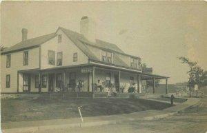 C-1910 Lakeview Inn Hall Boats RPPC Photo Postcard 20-6063