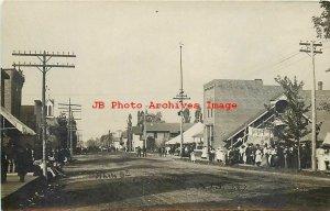 WI, Greenwood, Wisconsin, RPPC, Main Street, Business Area, 1909 PM, Photo