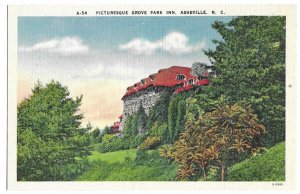 Picturesque Grove Park Inn, Asheville, North Carolina unused linen postcard