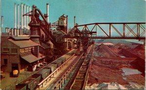 Vtg Postcard Dearborn Michigan MI - Ford Motor Company Blast Furnace Chrome UNP