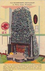 Pennsylvania Philadelphia Fireplace In Old Bookbinder's Restaurant