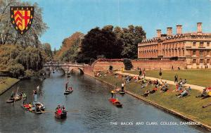 Cambridge The Backs and Clare College boats
