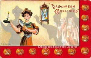 Halloween Postcard Old Vintage Antique Postcard Post Card Artist E.C. Banks W...