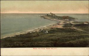 Watch Hill Point RI Lighthouse c1910 Postcard #2
