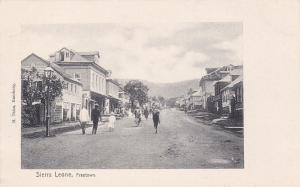 FREETOWN, Sierra Leone 1900-1910s; Street View (Dirt)